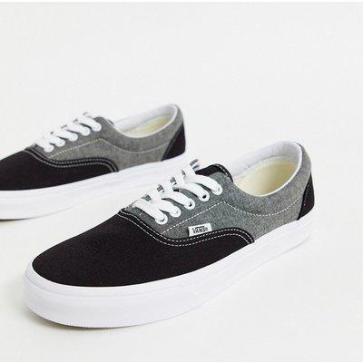 VANS Vans – Era – Skate-Schuhe aus Chambray-Canvas in Schwarz/Echtblau