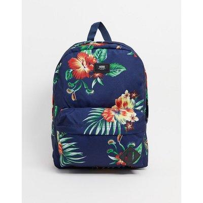 Vans – Old Skool – Backpack mit Blumenmuster-Mehrfarbig