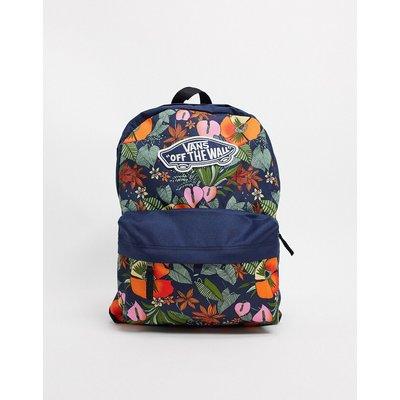 Vans – Realm – Backpack mit buntem Tropenmuster-Mehrfarbig