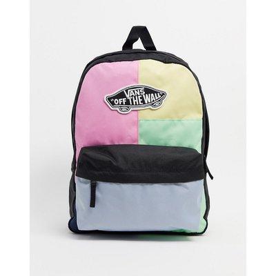 Vans – Realm – Backpack mit Farbblockdesign-Mehrfarbig
