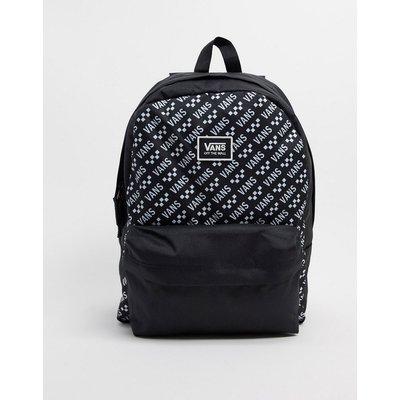 Vans – Realm – Klassischer Backpack in Schwarz