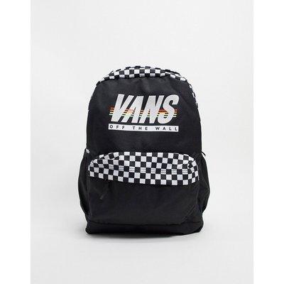 Vans – Sporty Realm Plus – Rucksack in Schwarz mit sportlichen Streifen