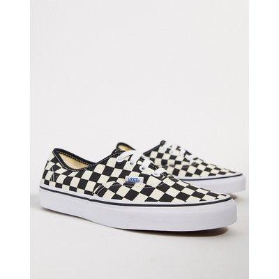 Vans – UA Authentic – Sneaker mit schwarzweißem Schachbrettmuster-Mehrfarbig