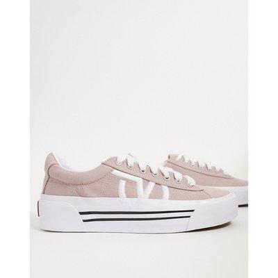 Vans – UA Sid NI – Leinen-Sneaker in Grau und Weiß