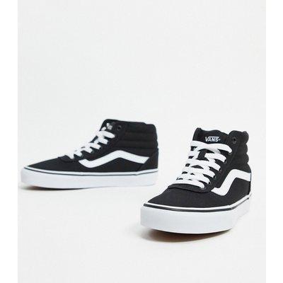 Vans – Ward – Knöchelhohe Sneaker in Schwarz/Weiß