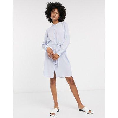 Vero Moda – Blaues Jerseykleid mit Bindegürtel