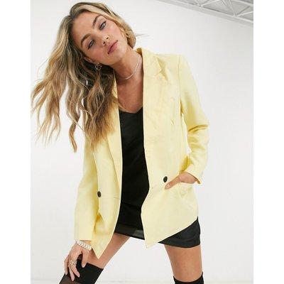 Vero Moda – Doppelreihiger Blazer in Gelb   VERO MODA SALE