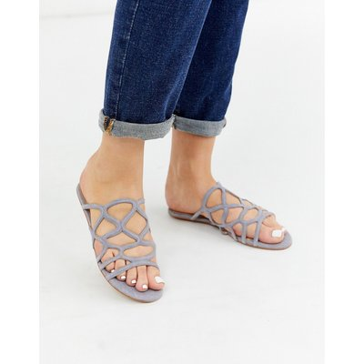 Vero Moda – Flache Sandalen-Grau