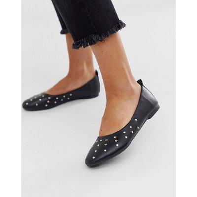 Vero Moda – Flache Schuhe mit Nietenverzierung-Schwarz