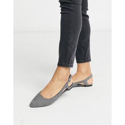 Vero Moda – Gestreifte Schuhe mit Fersenriemen-Mehrfarbig