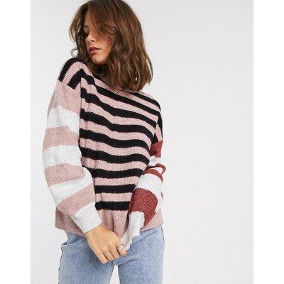 Vero Moda – Gestreifter Pullover-Mehrfarbig