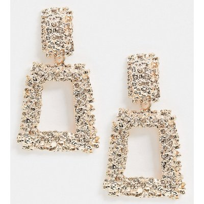 Vero Moda – Goldene, quadratische Ohrringe