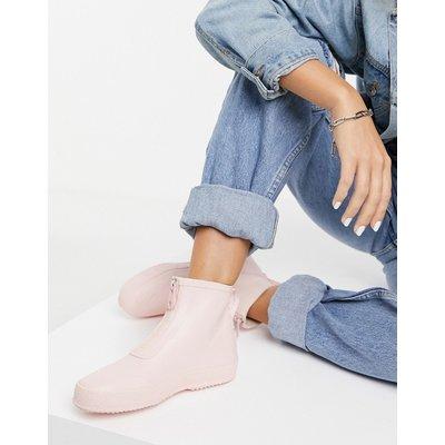 Vero Moda – Gummistiefeletten in Rosa