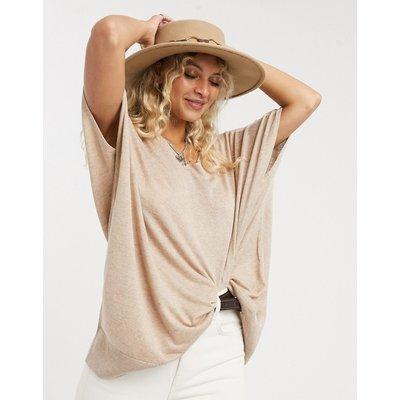 Vero Moda – Hellbrauner Oversize-Pullover-Bronze