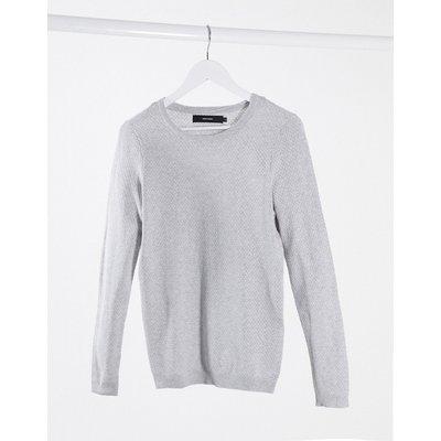 Vero Moda – Hellgrauer Pullover mit Rundhalsausschnitt   VERO MODA SALE