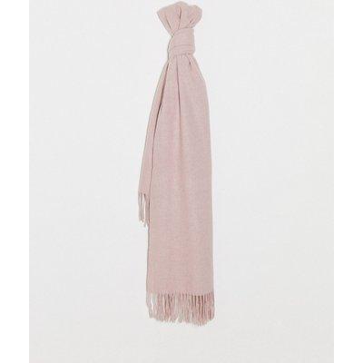 Vero Moda – Hellroter Schal mit Fransen-Rosa