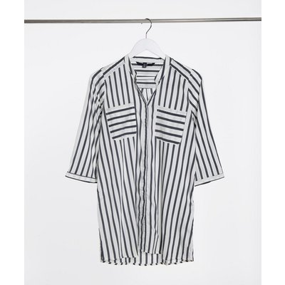 Vero Moda – Hemd mit Streifen in Weiß und Blau | VERO MODA SALE