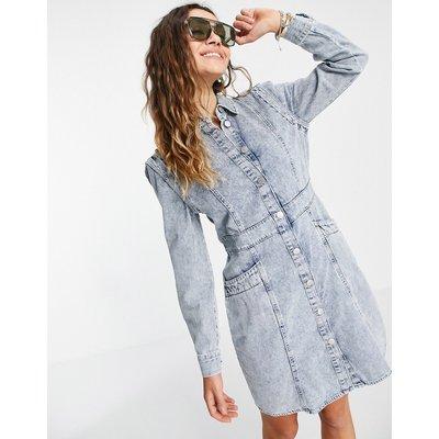 Vero Moda – Hemdkleid aus Denim in Blau | VERO MODA SALE