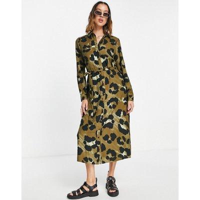 Vero Moda – Hemdkleid mit Gürtel und Leopardenmuster-Braun   VERO MODA SALE