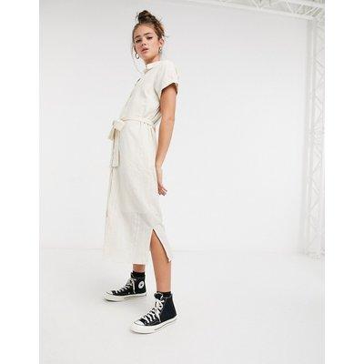 Vero Moda – Hemdkleid mit Taillenschnürung in Creme-Weiß | VERO MODA SALE