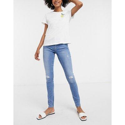 Vero Moda – Jeans im Used-Look in Hellblau | VERO MODA SALE