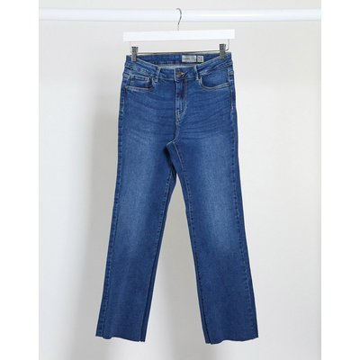 Vero Moda – Kurz geschnittene Jeans in verwaschenem Dunkelblau | VERO MODA SALE