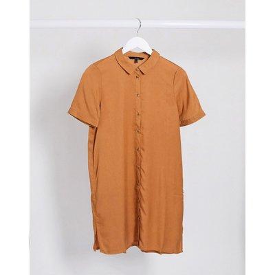 Vero Moda– Kurzärmliges Hemdkleid in Hellbraun   VERO MODA SALE