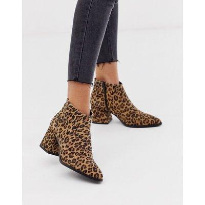 Vero Moda – Lederstiefel mit Leopardenmuster-Mehrfarbig
