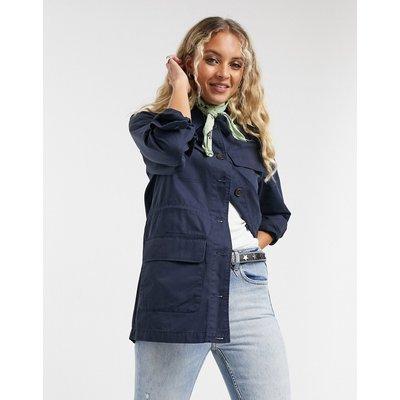 Vero Moda – Marineblaue Jacke im Utility-Style-Navy