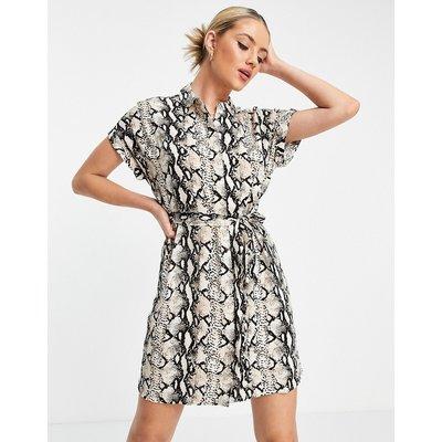 Vero Moda – Mini-Hemdkleid in Beige-Neutral   VERO MODA SALE