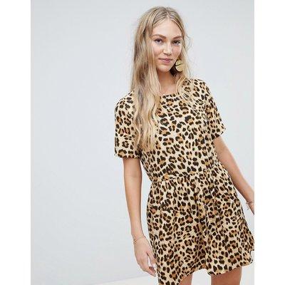 Vero Moda – Oversize-Hängerkleid mit Tierdruck-Mehrfarbig
