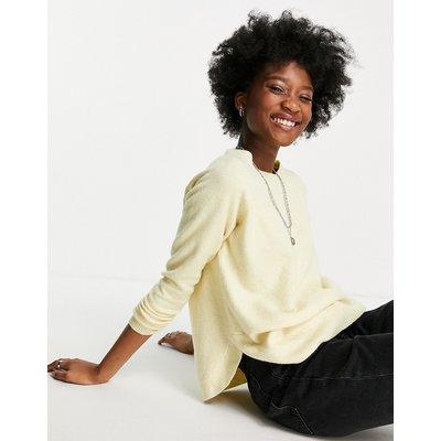 Vero Moda – Pullover mit Rundhalsausschnitt in Blassgelb | VERO MODA SALE