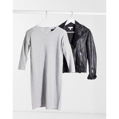 Vero Moda – Pulloverkleid mit Rundhalsausschnitt in Grau   VERO MODA SALE