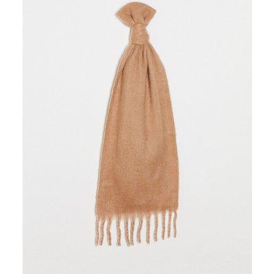 Vero Moda – Schal mit Fransen in Camel-Bronze