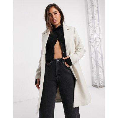 Vero Moda – Schmal geschnittener, doppelreihiger Mantel in Creme-Weiß | VERO MODA SALE