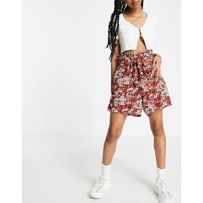 Vero Moda – Schwarz bedruckte Shorts mit Taillenschnürung | VERO MODA SALE