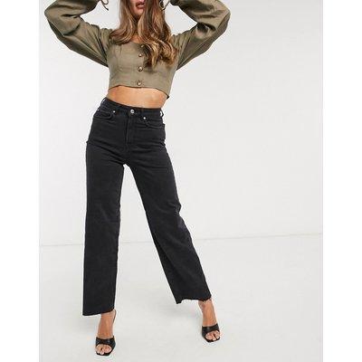 Vero Moda – Schwarze Jeans mit weitem Beinschnitt-Blau