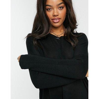 Vero Moda– Schwarzer Oversize-Pullover mit V-Ausschnitt | VERO MODA SALE