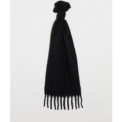 Vero Moda – Schwarzer Schal mit Fransensaum