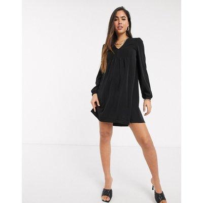 Vero Moda – Schwarzes Swingkleid mit V-Ausschnitt