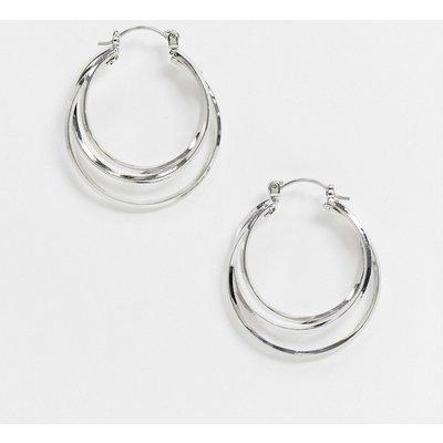 Vero Moda – Silberfarbene Creolen-Ohrringe
