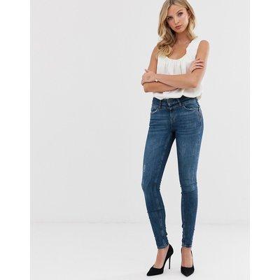 Vero Moda – Skinny-Jeans in Destroy-Optik-Blau