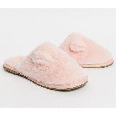 Vero Moda – Slippers aus Kunstpelz-Rosa