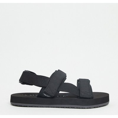 Vero Moda – Sportliche Sandalen mit Riemen in Schwarz