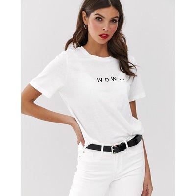 Vero Moda – T-Shirt mit Schriftzug-Weiß