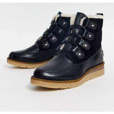 Vero Moda – Wanderstiefel aus Leder-Schwarz