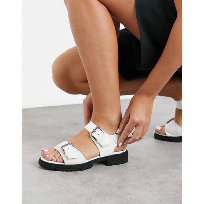 Vero Moda – Weiße Sandalen mit Schnallen und dicker Sohle   VERO MODA SALE