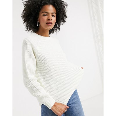 Vero Moda – Weißer Pullover mit Rundhalsausschnitt