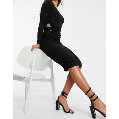 Vesper midi pencil skirt in black