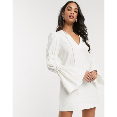 Vestire out of sight shift dress in ivory-White